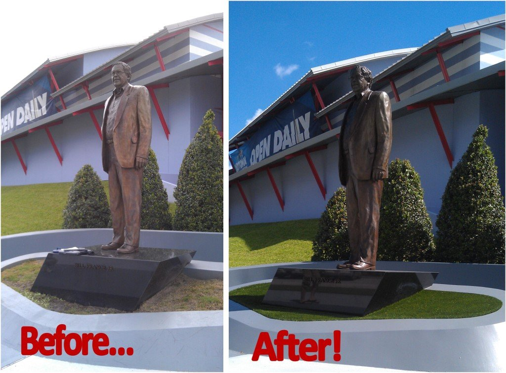 Daytona-Speedway-Mr-France-Statue-Before-and-After-1024×755 - Just Like Grass