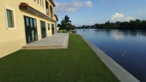 Miami home synthetic artificial lawn easy turf